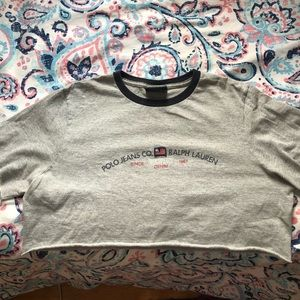 polo jeans co , ralph lauren cropped tee